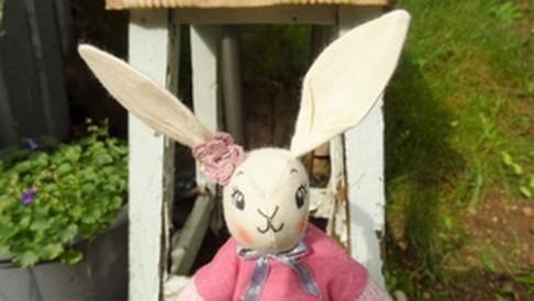 Poupée lapine - Détails tête - Les points de bonheur
